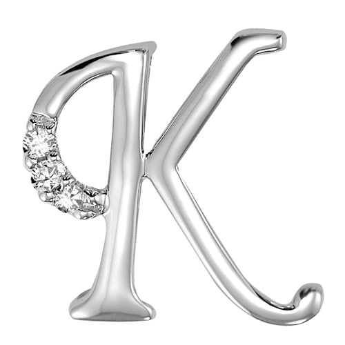 MINI K 10K Initial Diamond Pendant