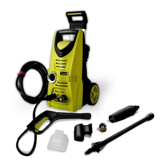 SereneLife Compact Electric High Powered Pressure Washer, Accessory Kit (SLPRWAS34)