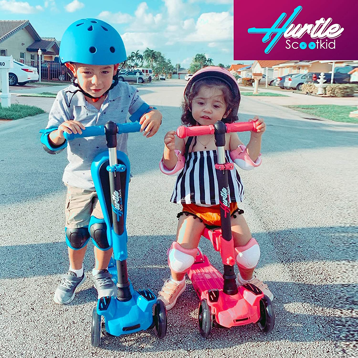Hurtle 3 Wheeled Scooter, Foldable Seat (1-14 Yr.)