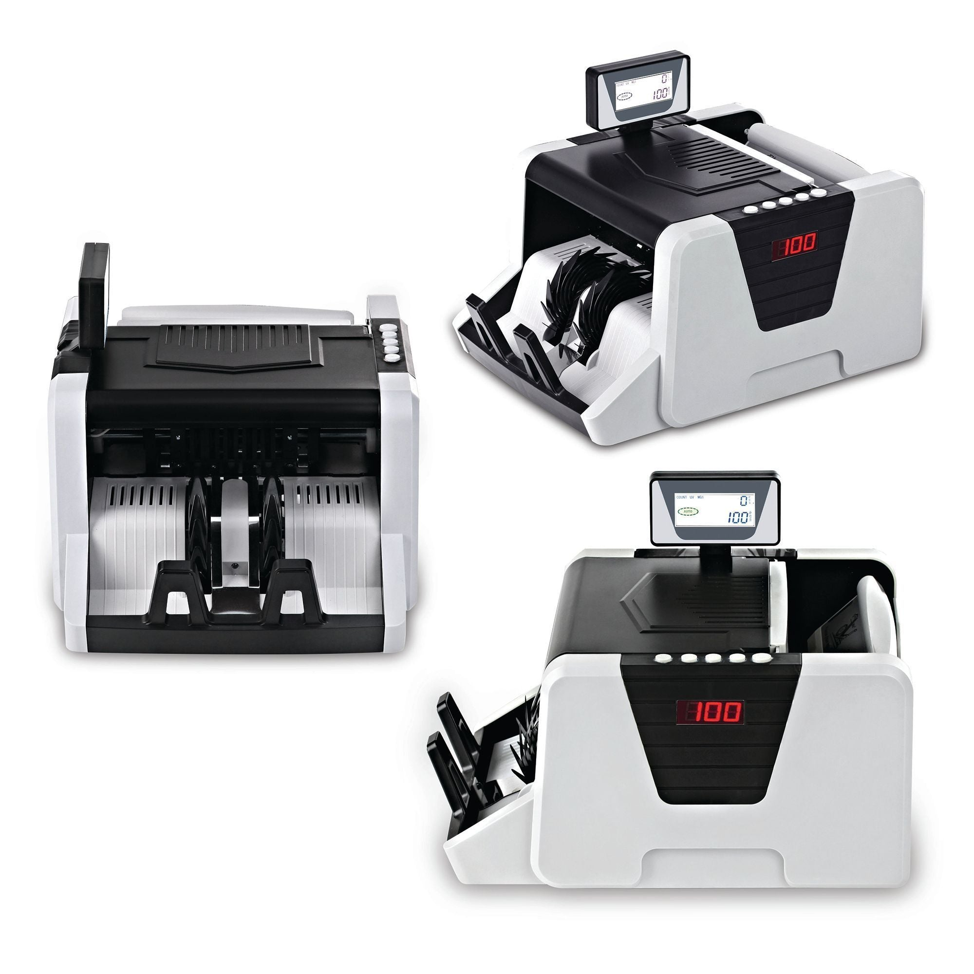 Pyle Premium Automatic Bill Counting Machine, Counterfeit Detection, 100 Pieces Per Min, (PRMC550)