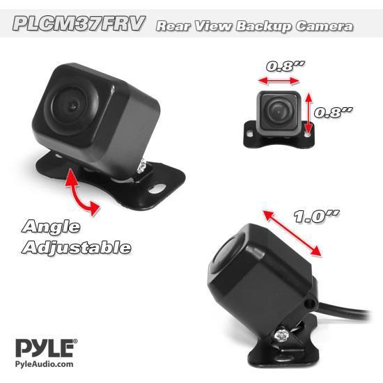 Pyle Mini Rearview Camera, Waterproof, Distance Scale Lines, Night Vision, (PLCM37FRV)