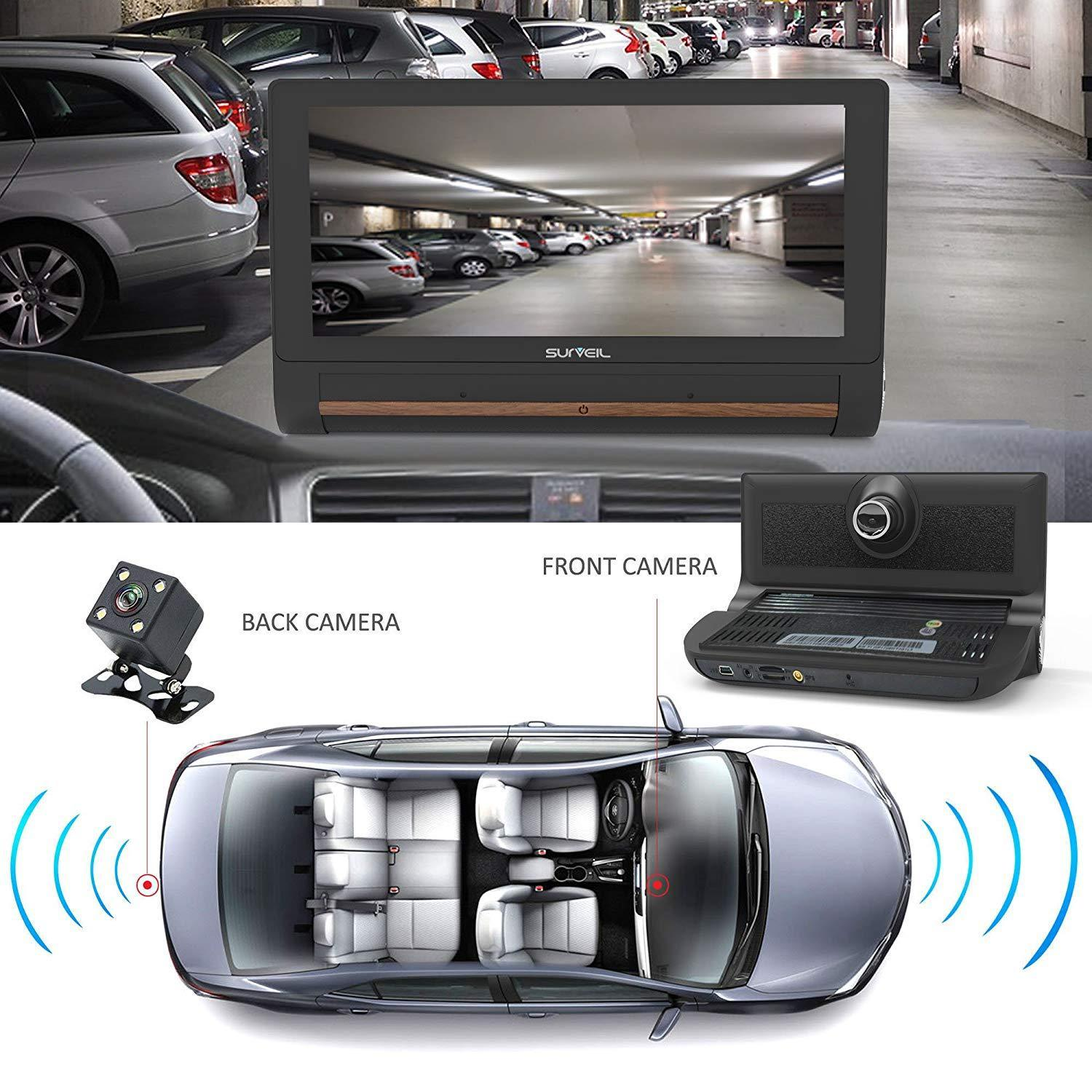 Pyle DVR Dash Cam Rear View Camera Monitor System,  WIFI/Bluetooth, 7'' Touchscreen Display, (PLDVRCAMAND75)