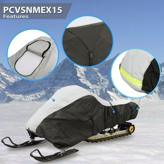 Pyle Armor Shield Deluxe Snowmobile Cover - Universal Cover for Snowmobiles (Up to 100 -inches) (PCVSNMEX15)