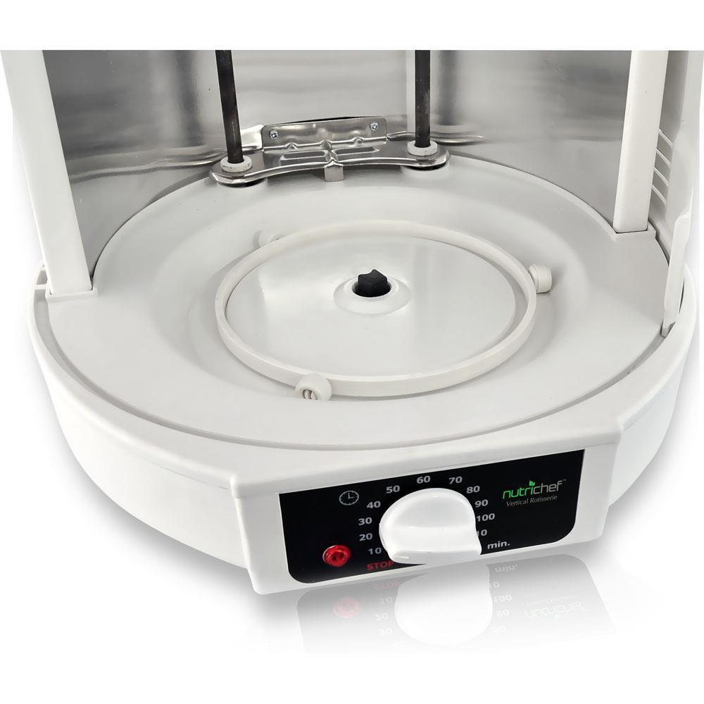 Vertical Countertop Rotisserie Rotating Oven (White)