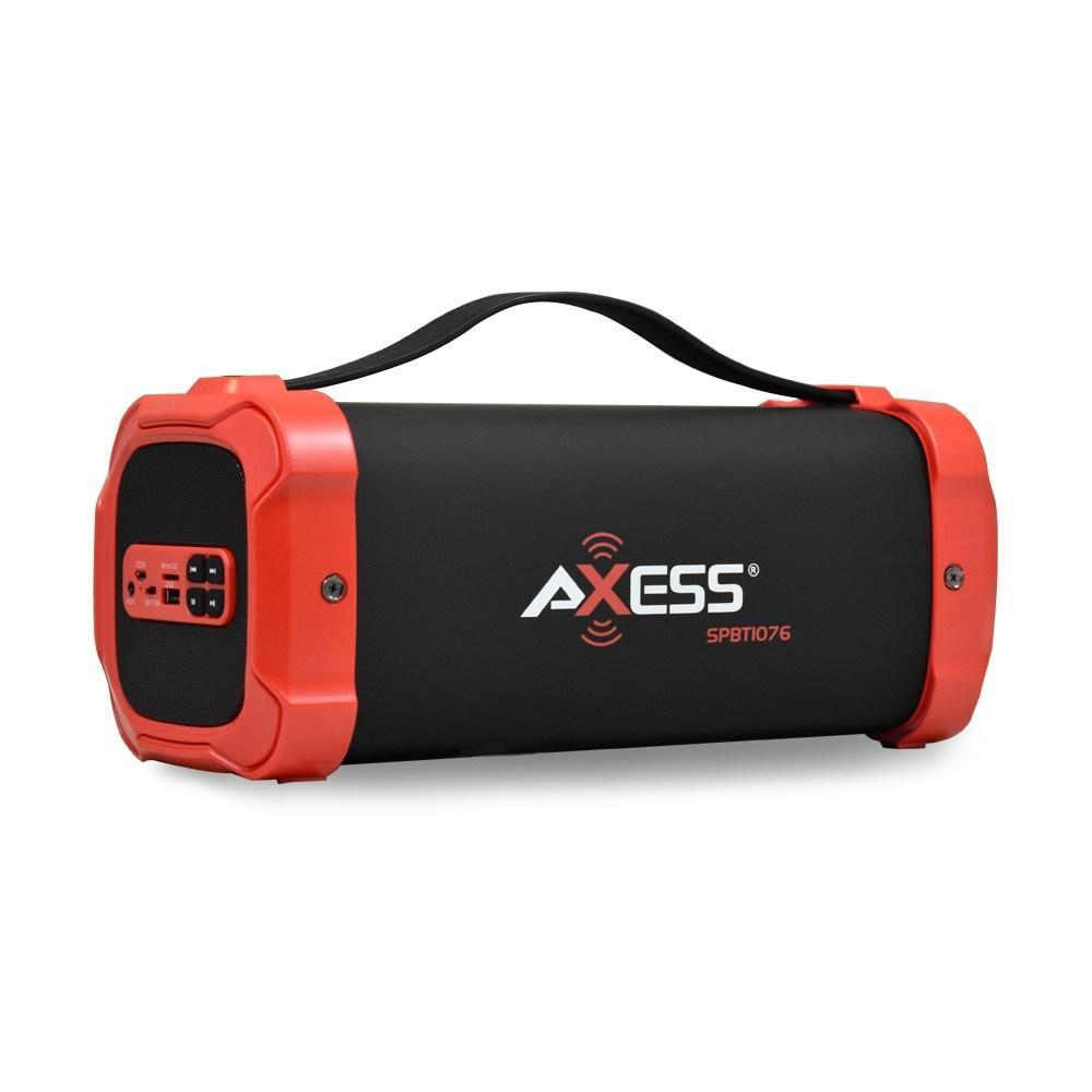 AXESS Bluetooth Media Speaker, Red (SPBT1076)