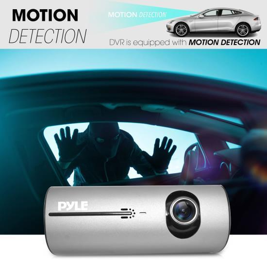 Pyle DVR Dash Cam System - Dual Camera Car Video Recording System with GPS Navigation Logger, 2.7 -inch Display (PLDVRCAMG37)