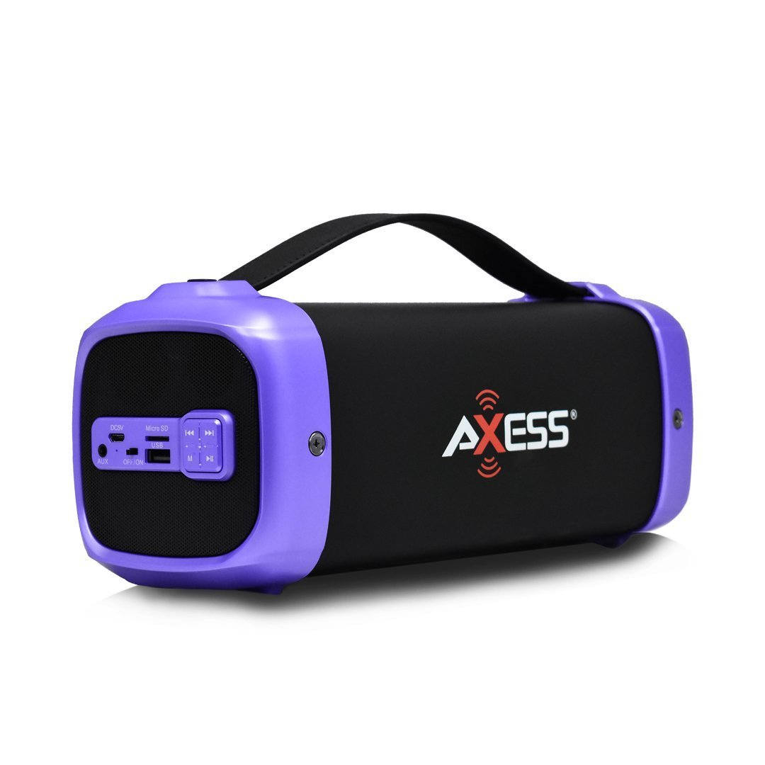 AXESS Purple on Black Bluetooth Speaker (SPBT1074)