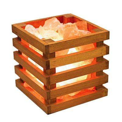 Relaxus Himalayan Salt Wooden Basket Lamp (503805)