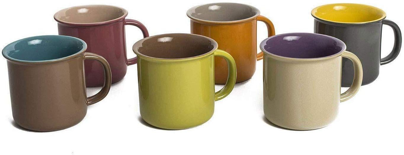 Yedi 20oz Jumbo Ceramic Coffee Mugs - Set of 6 (CC758)