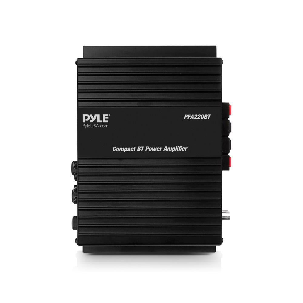 Pyle PFA220BT  Class-T Bluetooth Power Audio Amplifier - 120W Mini Dual Channel Sound Stereo Receiver Box w/ USB, RCA, 12V Adapter - For Subwoofer Speaker, Home Theater, PA System, Studio Use -