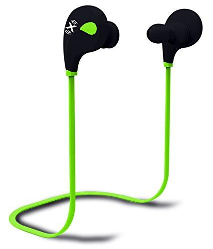 AXESS Bluetooth Headphone with Hands-Free Calling & Built-in Rechargeable Battery in Green (EPBT101GN)