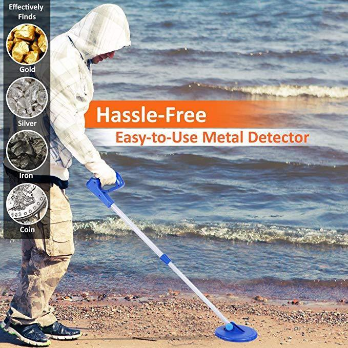 Pyle Easy Scan Treasure Hunting Metal Detector, 6.5'' Search Coil (PHMD05)