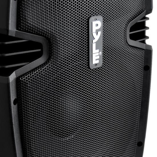 PylePro Loudspeaker PA Cabinet Speaker System, Powered 2-Way Full Range Sound, USB Reader, Aux Input, 8-Inch, 600 Watt (PPHP803MU)