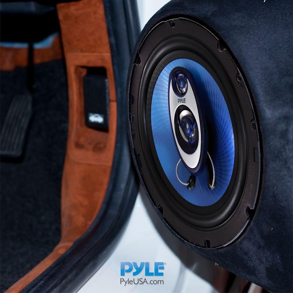 Pyle 6.5'' 3-Way Vehicle Speaker System - Pair - Blue (PL63BL)