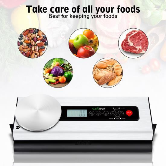 NutriChef Automatic Food Vacuum Sealer - Electric Air Sealing Preserver with Digital Scale (PKVS36STS)