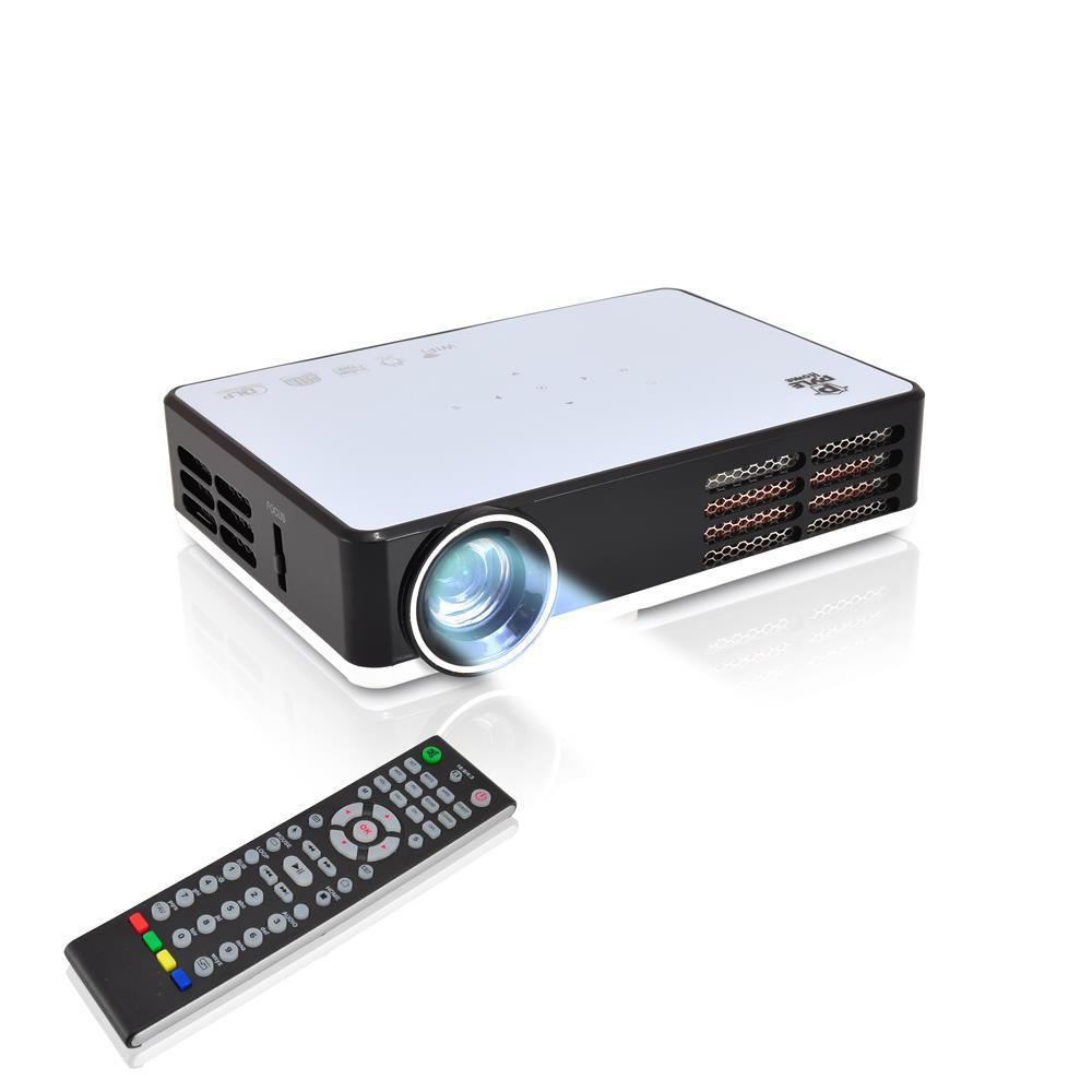 Pyle Compact Home Theater HD LED Projector, WIFI, 3D/Blu-Ray Ability, (PRJAND805)