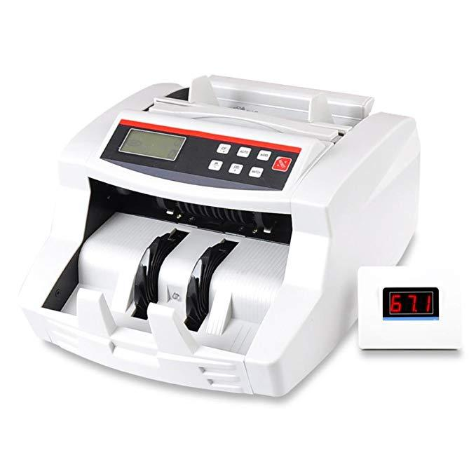 Pyle Wireless Automatic Bill Counter Machine, Counterfeit Detection, LCD Display, 1100 Pieces Per Min, (PRMC700)
