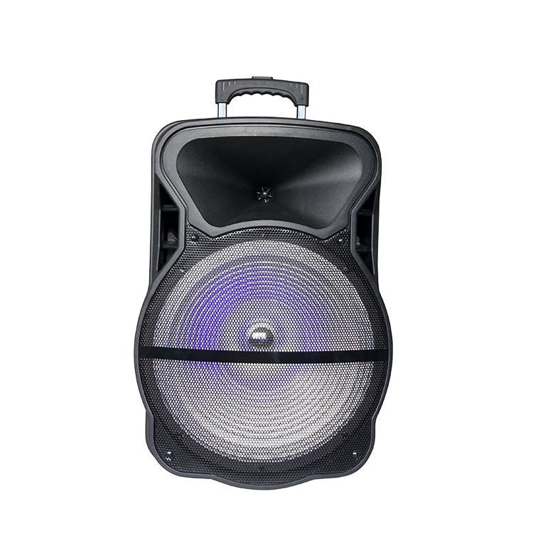 "Digital Sunflash DJ Speaker with LED Display, Changeable Flashing LED Light On Speaker Grill, and 15"" Woofer + 1 x 3"" Tweeter (SF825)"