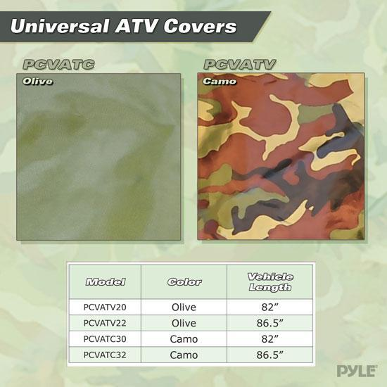 Armor Shield ATV / 4 Wheeler Protective Cover, Camo Print, Fits Vehicles up to 82''L x 48''W x 31.5''H