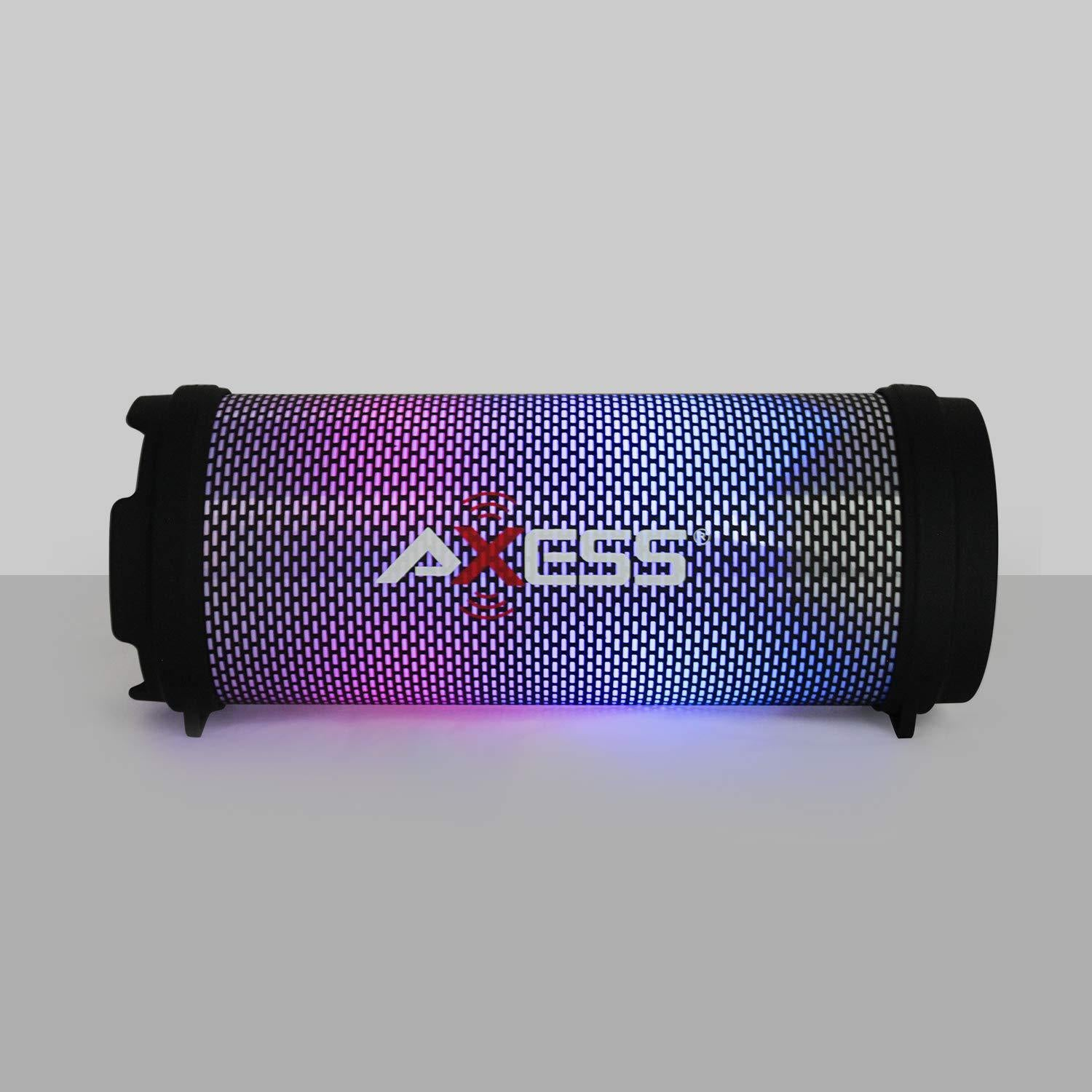 AXESS SPBL1043 Mini Portable Bluetooth Hi-Fi Bluetooth Speaker with Dancing LED Lights, Pink