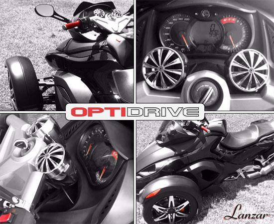 Lanzar 3.0'' Opti-Drive Dual Speaker System, 4-Ch. Amplifier, Weatherproof, ATV Handlebar Mount, (OPTIMC90)