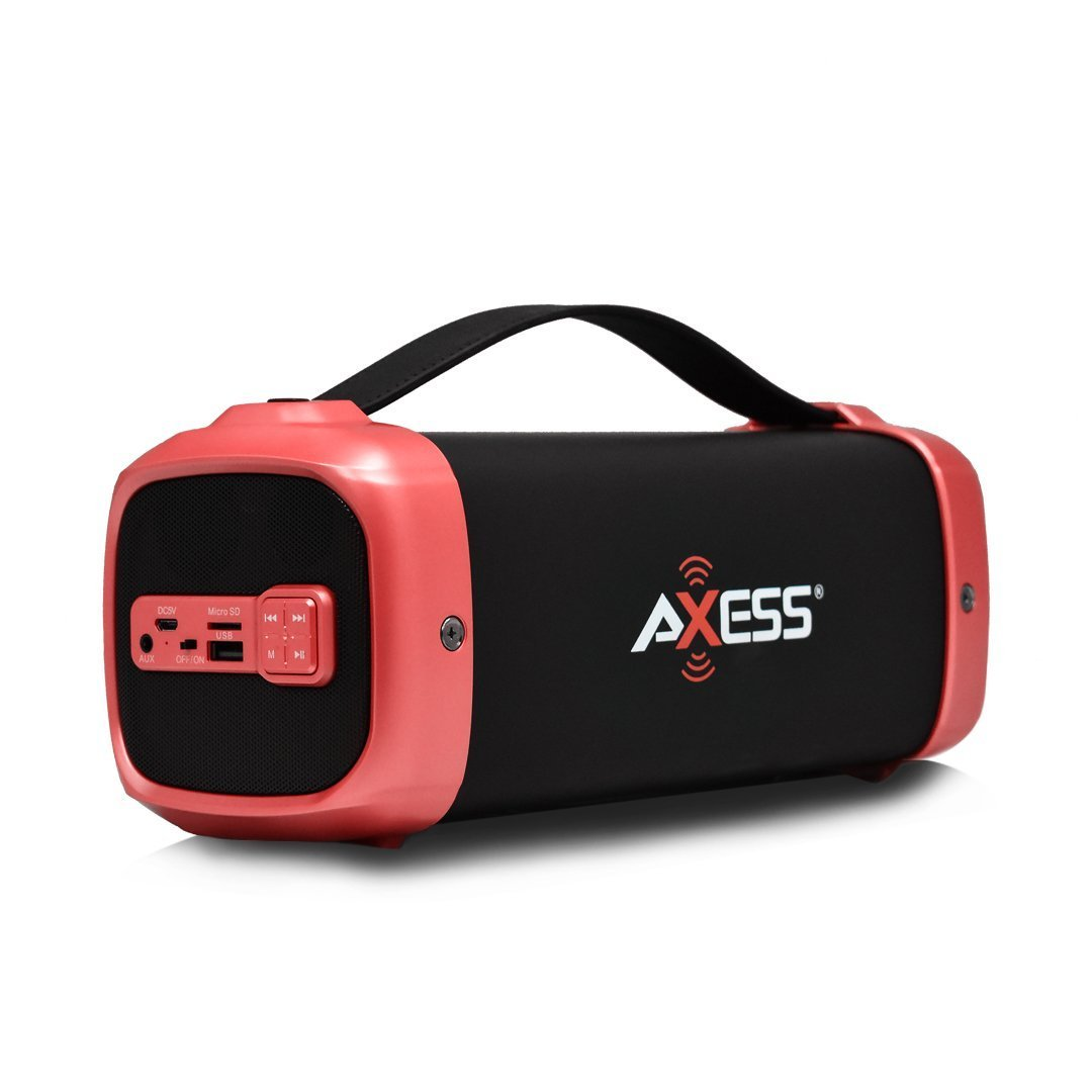 AXESS Red on Black Bluetooth Speaker (SPBT1074)