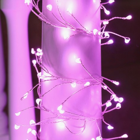Plug In Led Pink Firefly String Lights Fireflies Designs