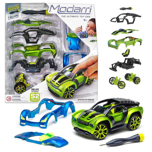 Image of Modarri S2 vehicle and packaging