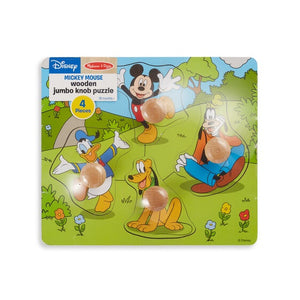 Image of Mickey Mouse Wooden Jumbo Knob Puzzle in packaging