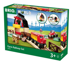 Image of Farm Railway Set packaging from BRIO