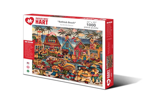 Image of Bathtub Beach 1000 piece puzzle packaging