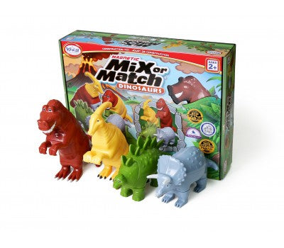 Image of Mix or Match dinosaurs and packaging from Popular Playthings