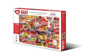 "Image of ""Boomers' Favorite Candy"" 1000 piece puzzle packaging"