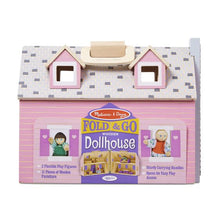 Image of Fold & Go Wooden Dollhouse in packaging