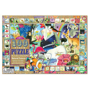Image of 100 piece Natural Science puzzle packaging by eeBoo