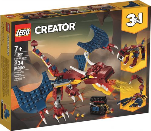 Image of LEGO Creator Fire Dragon packaging
