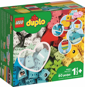 Image of Duplo 80 piece heart box packaging