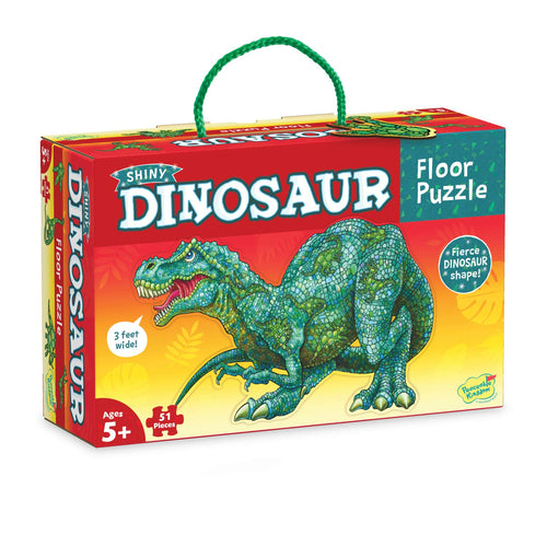 Image of Shiny Dinosaur Floor Puzzle from Peaceable Kingdom