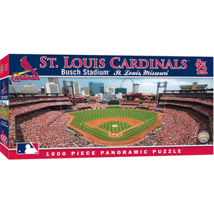 Image of 1000 Piece Busch Stadium Panoramic Puzzle packaging