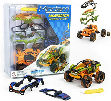 Image of Modarri Jurassic Beasts Monster Truck and Packaging