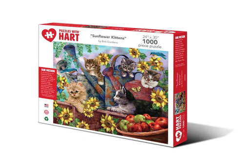 Image of 1000 Piece Sunflower Kittens Puzzle