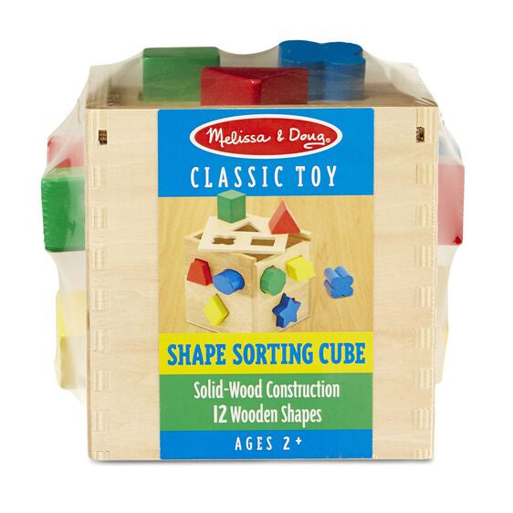 Image of Shape Sorting Cube from Melissa & Doug in packaging