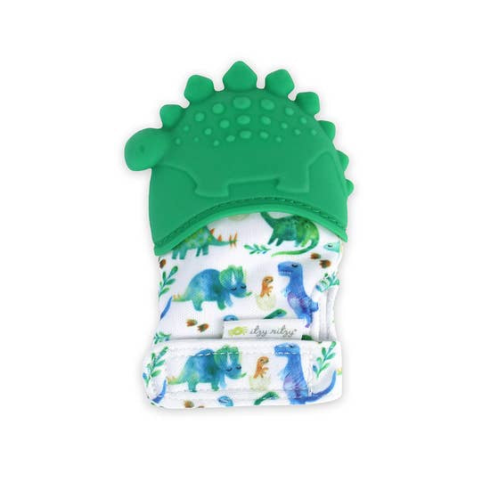 Image of Dinosaur Itzy teething Mitt