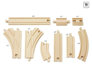 The BRIO Expansion Pack Intermediate includes 16 pieces