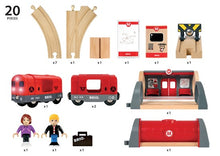 The BRIO Metro Railway set includes 20 pieces