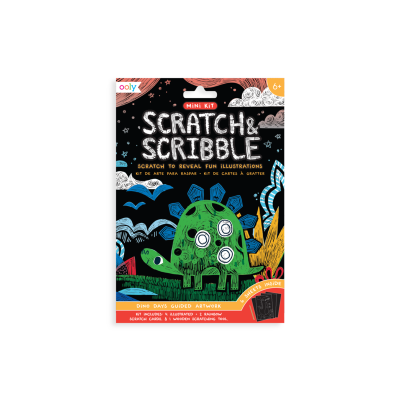 Image of Scratch & Scribble Mini Kit - Dinosaurs