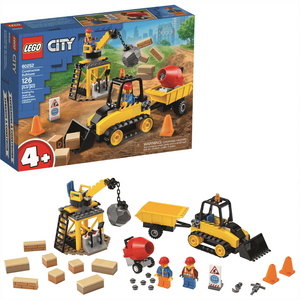 Image of City Construction Bulldozer pieces and packagaing