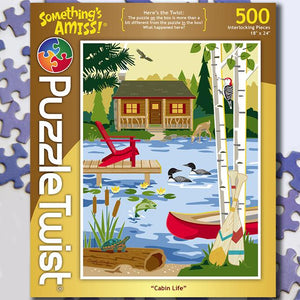 Image of 500 PC Cabin Life Puzzle Twist