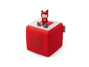 Image of Red Toniebox and Creative-Tonie figure
