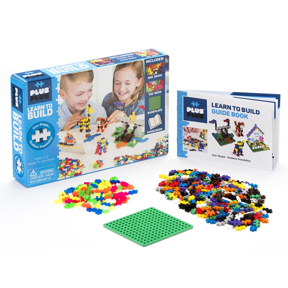 Image of Plus Plus Learn to Build kit and packaging